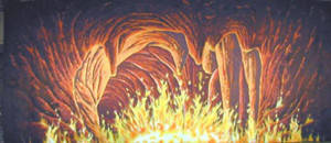 Hades Fire Cave Backdrop