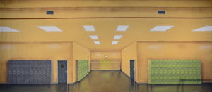 Grosh Hallway with Lockers Backdrop is used in productions of Grease and High School Musical