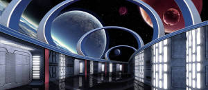 Sci Fi Interior backdrop for Star Wars, Star Trek and spaceship, space travel plays and productions