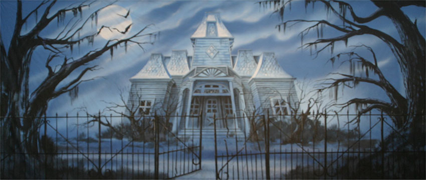Haunted House Backdrop