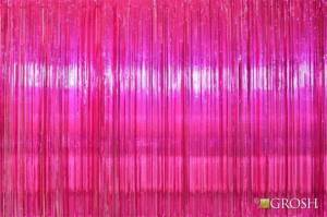 Hot Pink Rain Curtain for school plays and productions