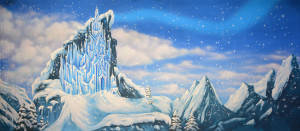 Ice Castle Exterior Backdrop