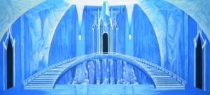 Ice Castle Interior Backdrop