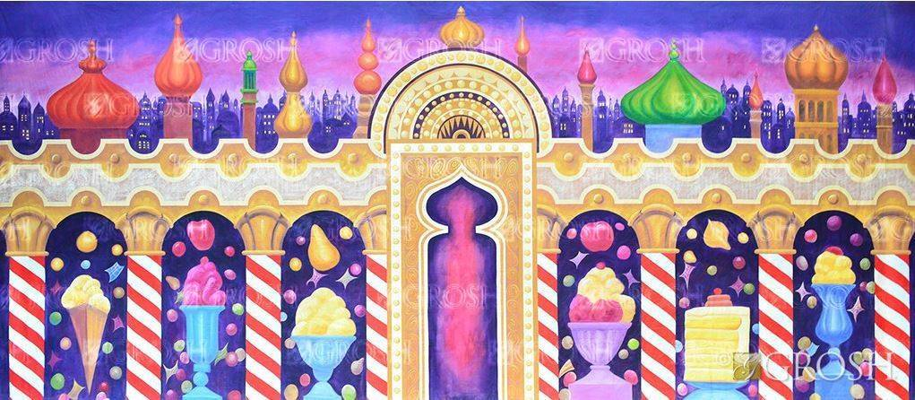 Nutcracker Kingdom of the Sweets Backdrop