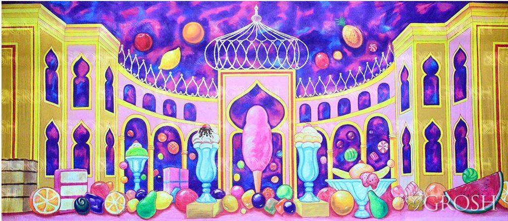 Nutcracker Land of the Sweets Backdrop