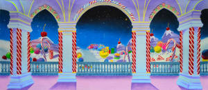Charlie and the Chocolate factory candy land backdrop