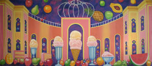 Land of the Sweets Backdrop