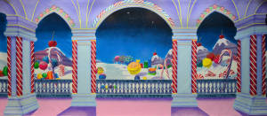 Land of Sweets backdrop for the Nutcracker play