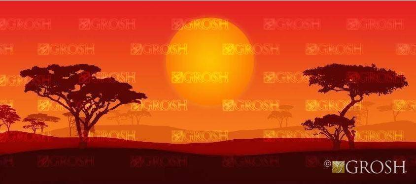 Lion King African Landscape Backdrop