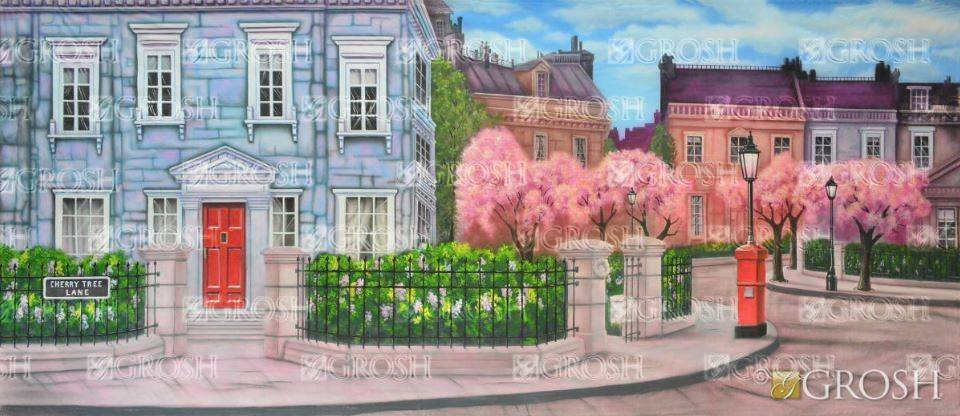 Mary Poppins Cherry Tree Lane Backdrop
