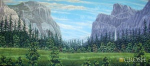 Mountain Landscape backdrop for Beauty and the Beastm Brigadoon, Sound of Music, Matterhorn, Heidi, Yosemite, Rocky Mountain plays and productions