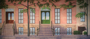 New York Brownstone Backdrop