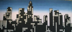 New York Skyline Silhouette Backdrop