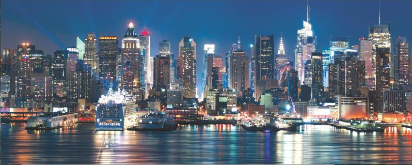 Photo-Realistic New York Skyline Backdrop