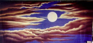 Night Sky with Full Moon 3 Backdrop