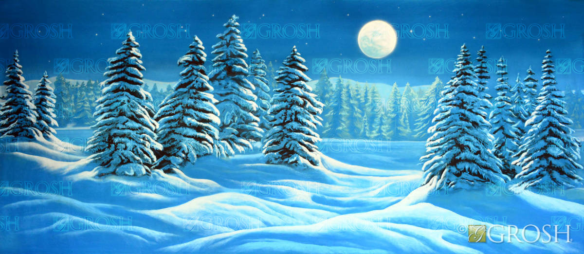 Christmas Carol Snowy Background
