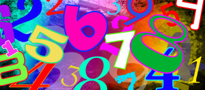 Numbers Montage backdrop