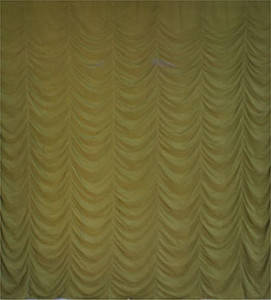 Olive Green Satin Austrian Backdrop