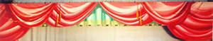 Red Painted Festoon Border Backdrop