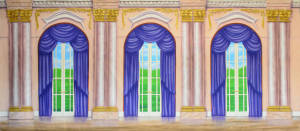 Pretty Palace Interior backdrop for Frozen and Nutcracker