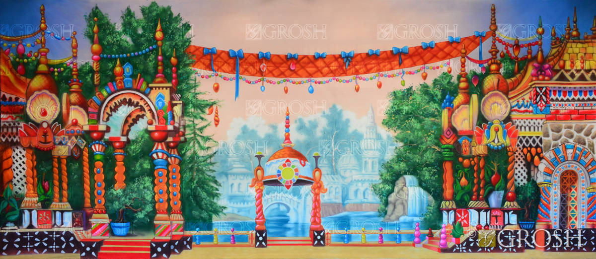 Kingdom of the sweets backdrop for The Nutcracker play