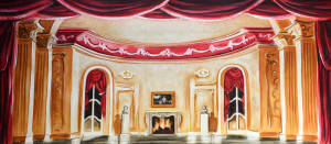 Stylized Parlor Backdrop
