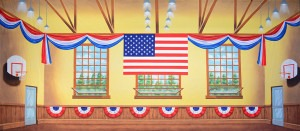 Patriotic Gymnasium Backdrop