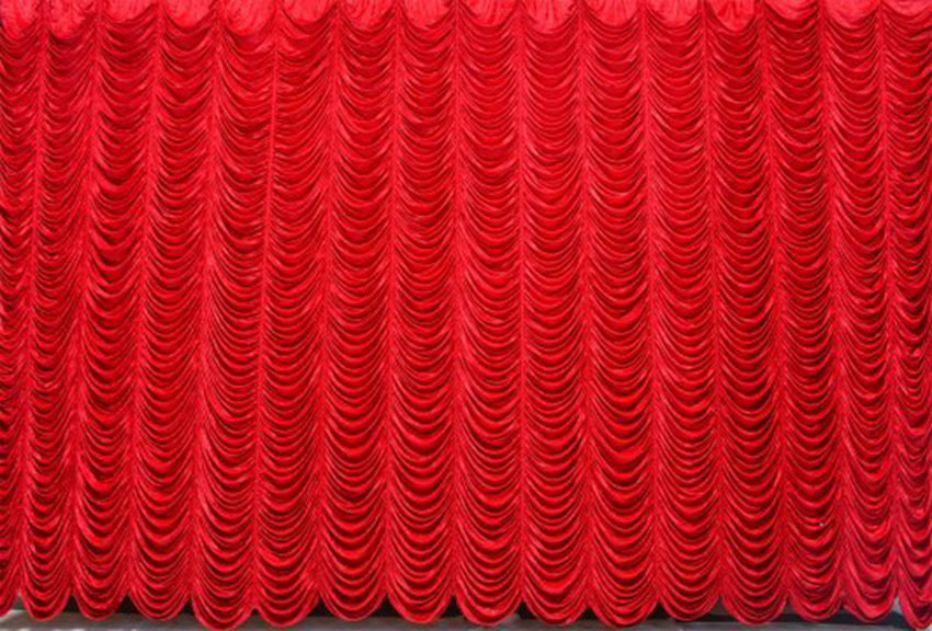 Red Velvet Austrian Puff Backdrop