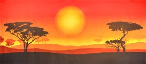 African Sun Landscape backdrop for The Lion King, Jungle Book, Safari, African, children's parties, Africa, Kenya, sun, Australia, down under plays and productions