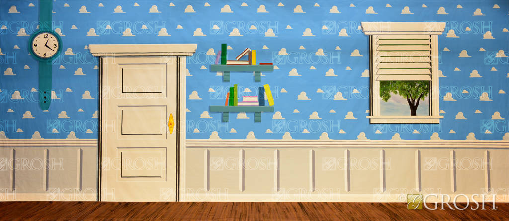 Andy's Room backdrop for Toy Story and children or kid themes