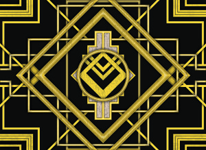Art Deco Pop Up backdrop for Thoroughly Modern Millie, The Great Gatsby, Roaring Twenties, 1920s plays and productions