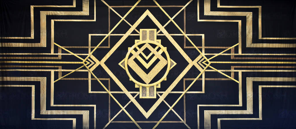 Art Deco backdrop for Art Deco, The Great Gatsby, 1920's, Thoroughly Modern Millie plays and productions