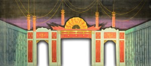 Asian Interior backdrop for Flower Drum Song, Mulan, Miss Saigon, Madame Butterfly, oriental, The King and I, China, Japan, Chinese New Year and Japanese plays and productions