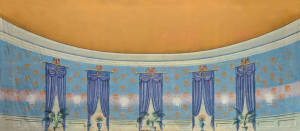 Large Blue Parlor Interior is ideal for Cinderella, Frozen and Nutcracker