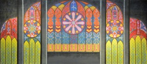 Church Window backdrop for cathedral, Dark Ages, Middle Ages, Easter, Footloose, Jekyll & Hyde, medieval, Phanton of the Opera, Romeo & Juliet, Shrek, Sister Act, Sound of Music and Tom Sawyer plays and productions