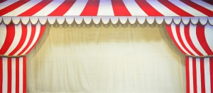 Circus Tent Arch backdrop for Dumbo, Carousel, Annie Get Your Gun, Barnum, Circus, carnival, Harlequinade, Barnum, Barnum and Bailey's plays and productions