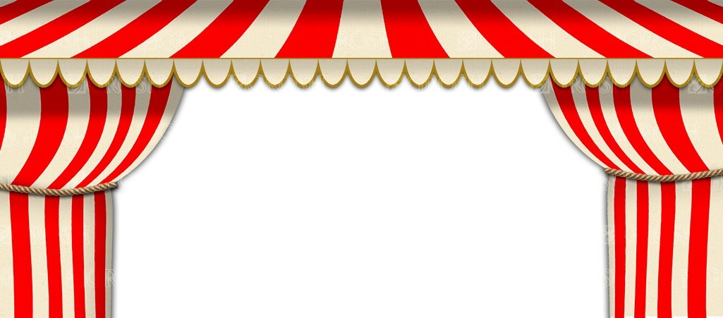 Circus Tent Arch backdrop for Ringling Brothers, Barnum, circus, Harlequinade and clown play and productions
