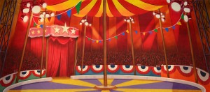 Circus Tent Interior backdrop for Carousel, State Fair, Big, Grease, Dumbo, Barnum, Annie Get Your Gun, Pinocchio, Mr. President, Show Boat, circus, party drops, carnival backdrops, Big Top, Ringling Brothers, county fair, event planner drop, circus tent plays and productions