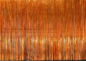 Copper Rain Curtain for event planners, recitals, dance, plays, school productions and stages