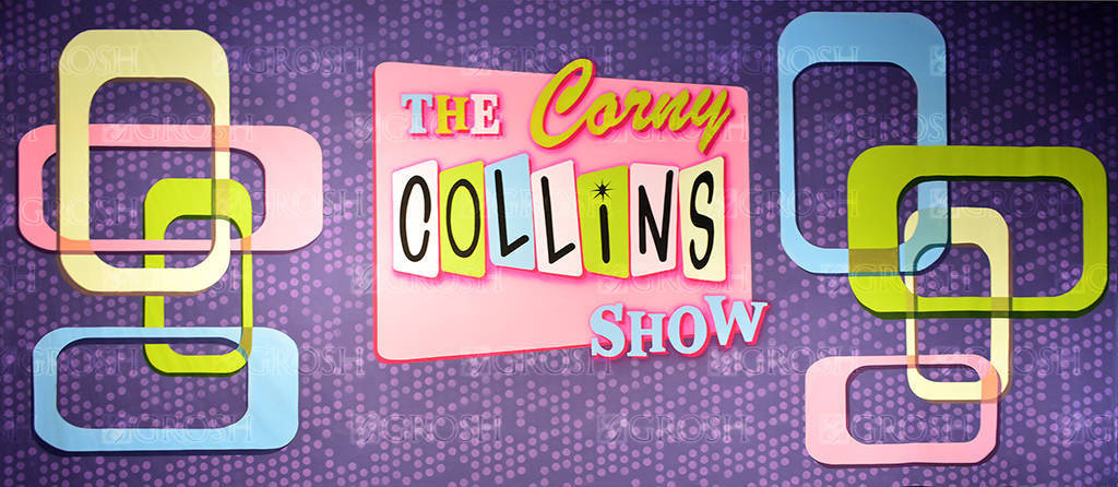 Corny Collins Show backdrop for retro, dance-a-thon, Hairspray, dance, dance marathon, sock hop, dance party, Tracy Turnblad, Corny Collins Show, Sixties, 60s, dance contest, throwback plays and productions