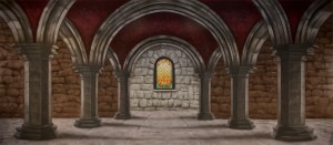 Dark Castle Interior backdrop for Phantom of the Opera, Hamlet, Macbeth, Camelot, Wizard of Oz, Hansel and Gretel, Beauty and the Beast, The Wiz, Kiss Me Kate, Halloween, Shrek plays and productions