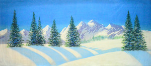 Day Snow Landscape backdrop