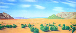 Desert Landscape backdrop