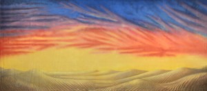 Desert Sunset backdrop for Joseph and the Amazing Technicolor Dreamcoat, Gypsy, Jesus Christ Superstar, desert, mountain themes, deserts plays and productions