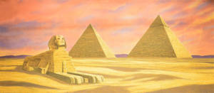 Egyptian Landscape with Sphinx backdrop