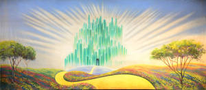 Emerald City backdrop for the Wizard of Oz, Wicked, The Wiz plays and productions