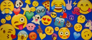 Emoji Montage backdrop for birthday parties, kids party, bar mitvahs, bat mitvahs, event planners, cell phone, dance recital, school plays and stage productions