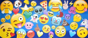 Emoji Montage backdrop for cell phone, dance, emojis, emoticons, emotions, fantasy, recital, texting, event planners, birthdays, kids parties, children's parties, plays and school productions