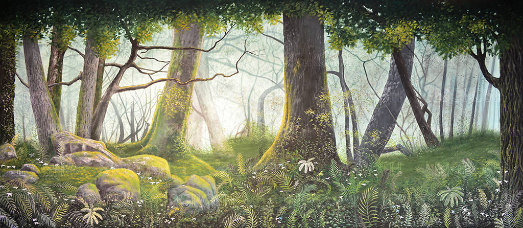 Moss Covered Forest Panel 2 Backdrop