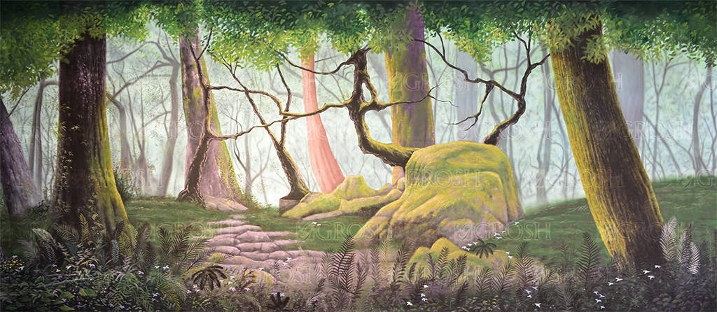 Forest Panel 4 Backdrop